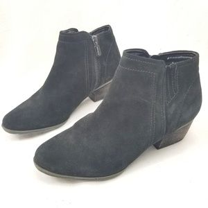 Blondo Valli Waterproof Bootie Black Suede 9 Wide